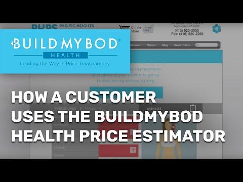 How a consumer uses the BuildMyBod Health Price Estimator