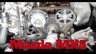 Anleitung Zahnriemen wechseln change timing belt Teil 1 Mazda MX5