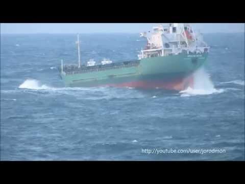 General Cargo Ship ARKLOW WAVE leaving A Coruña