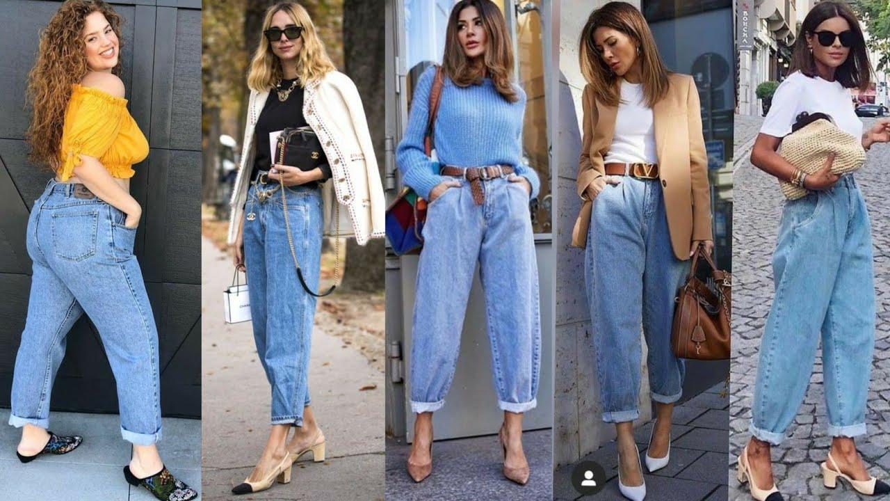 Pantalones Vaqueros Recto De Mujer Que Mejor Sientan Moda Mujer Pantalones Recto Mom Jeans Youtube