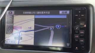 トヨタ純正ナビ NSCT-W61 の様子