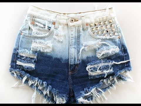 COMO DESFIAR JEANS MAIS FÁCIL E RÁPIDO/ How to make destroyed jeans