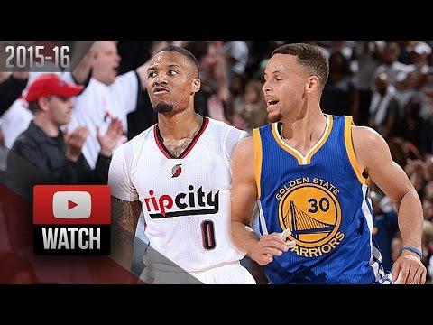 Stephen Curry vs Damian Lillard G4 Duel Highlights (2016.05.09) Blazers vs Warriors - MUST Watch!
