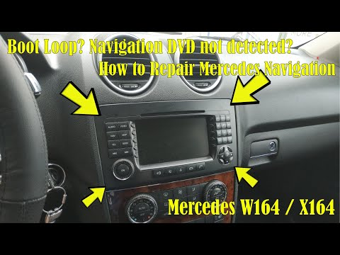 Mercedes W164 And X164 Navigation Removal And Repair (Restart Loop / Navigation DVD Not Detected)