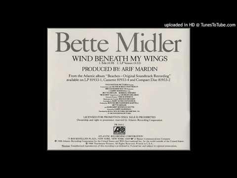 Bette Midler  Wind Beneath My Wings Promo Edit Radio Version