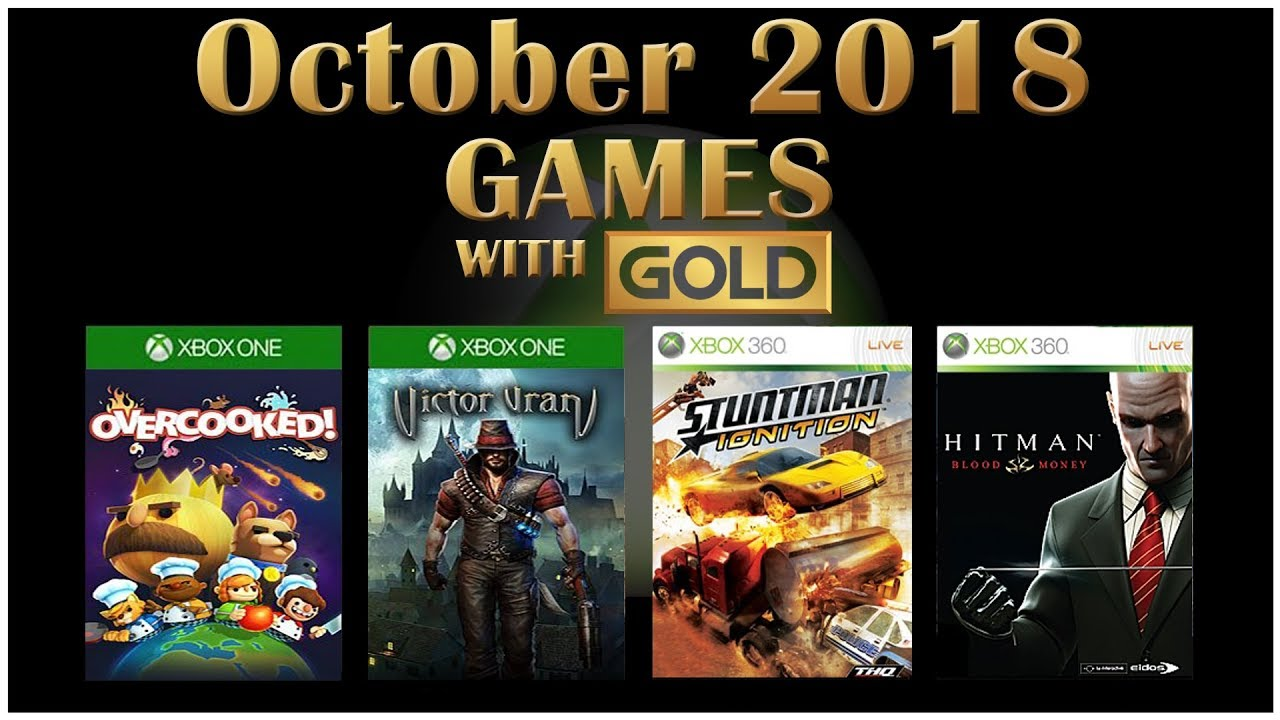 Xbox Live Games With Gold October 2018