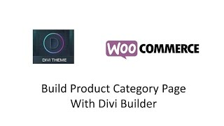 Divi Woocommerce Product Category Page Archive