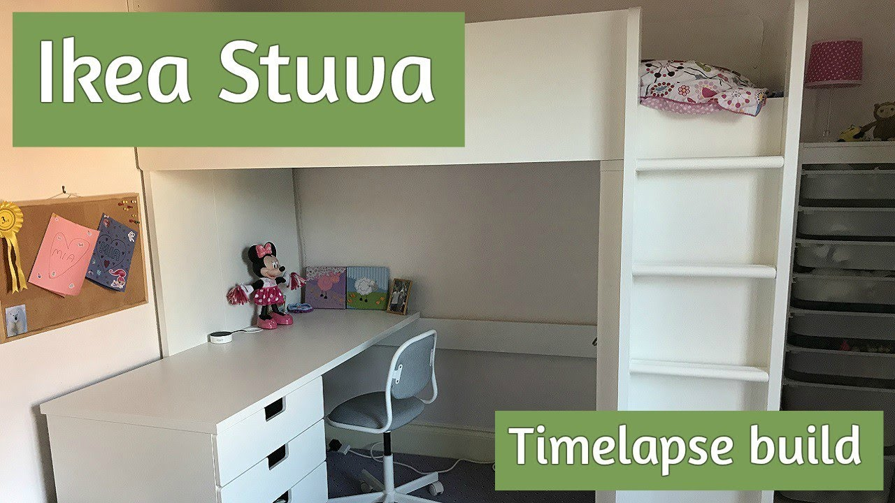 Ikea Stuva Embly How To Build The Loft Bed In Time Lapse