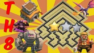 Th8 War Base 2017 Anti Everything-Anti Gowipe+Anti Dragon+Anti Hog+Anti 2 Star