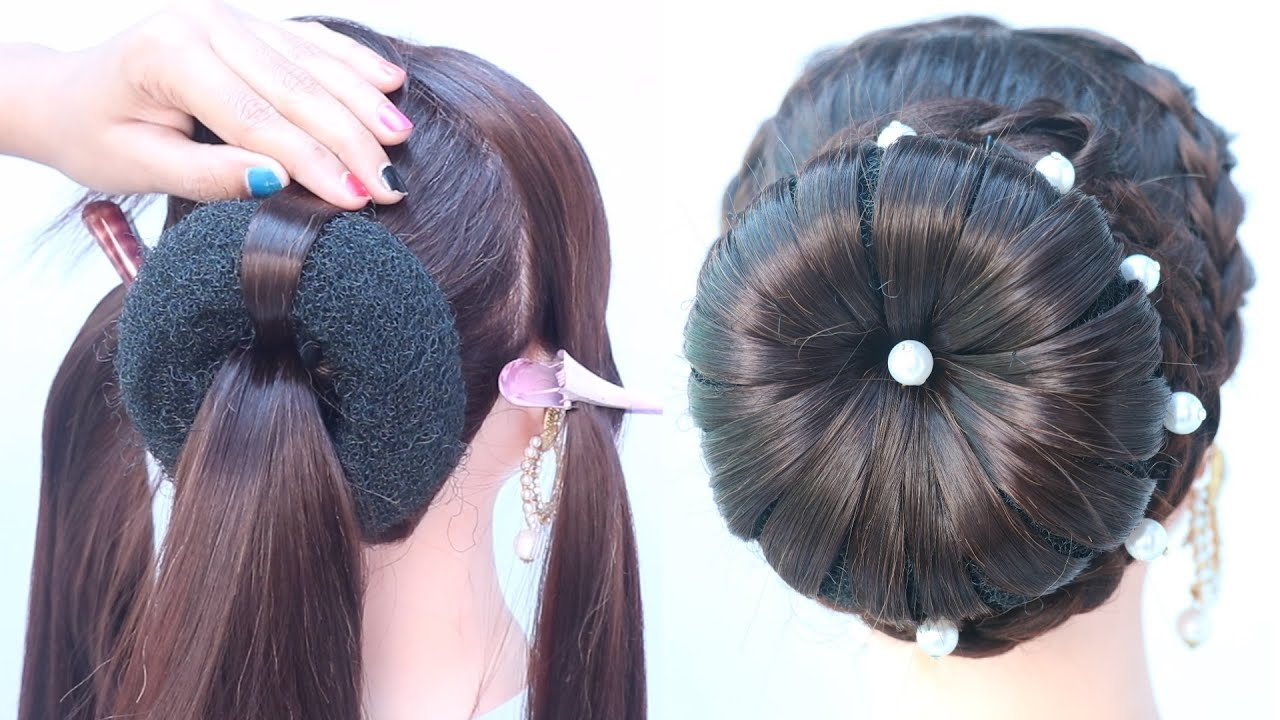 very easy juda hairstyle for thin hair || simple hairstyle || quick hairstyle || bun hairstyle