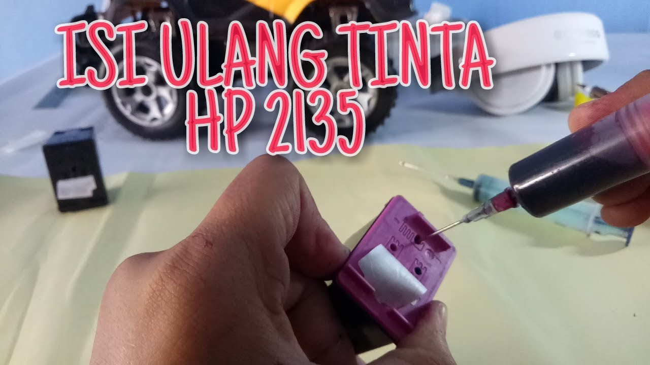 Cara Isi Ulang Refill Tinta Hp 2135 Dj Ink Advantage Dataprint Black Bahasa Indonesia