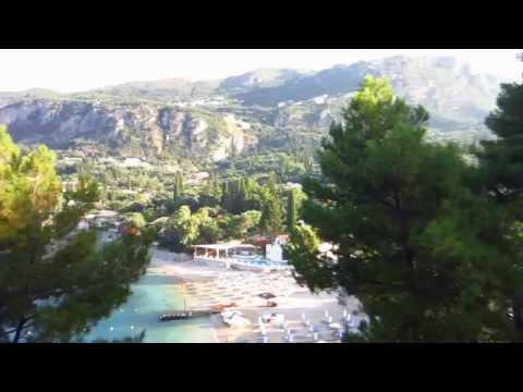 Morning view at Akrotiri Beach hotel. - Paleokastritsa, Corfu island, Greece.