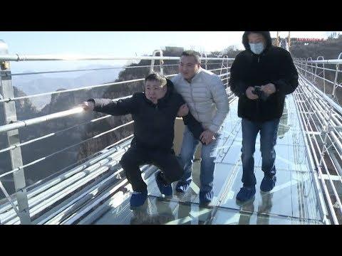 Download Youtube: World's Longest Glass Bottom Bridge Opens in North China