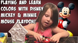PLAYDOH DISNEY MICKEY AND MINNIE MOUSE FOR KIDS UNBOXING