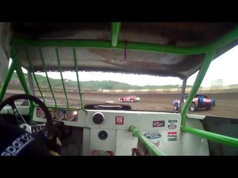5.9.15----Peoria Speedway---heat race---in car camera