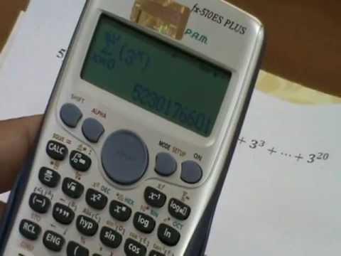 Tính tổng của dãy số trên máy tính Casio fx 570 ES PLUS