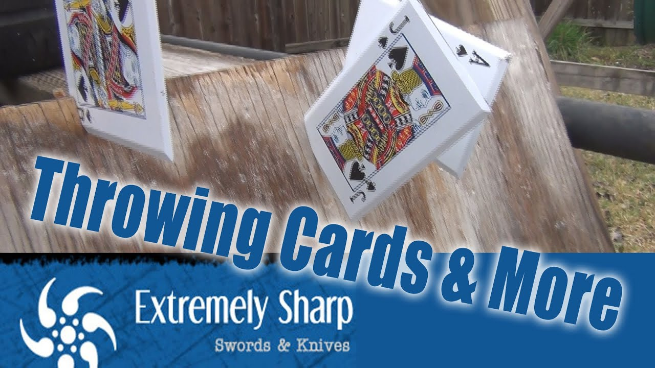 more weapons throwing cards and more from extremely sharp