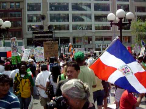 May Day Immigrants' Rights Protest - Manhattan 2010 Spech