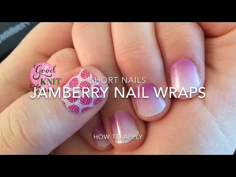 Jamberry Nail Tutorial Short Nail Demo Youtube