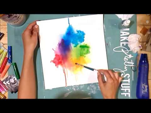 Watercolor Background with Gelatos