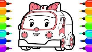 Робокар Поли | Спасательные машинки робокары для детей | Скорая помощь Эмбер | Robocar Poli