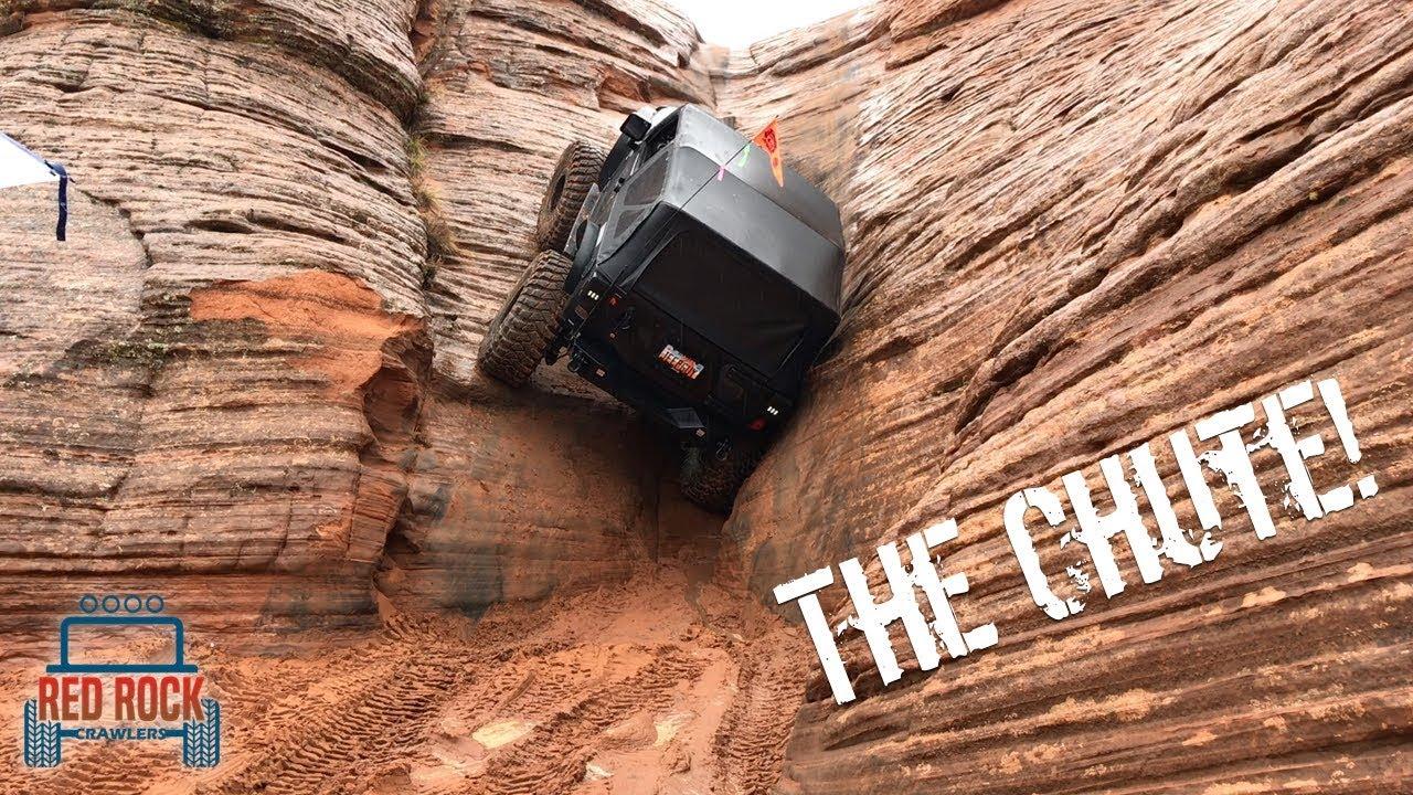 سيارة جيب تتحدى الجاذبيه و تتسلق صخره عملاقه