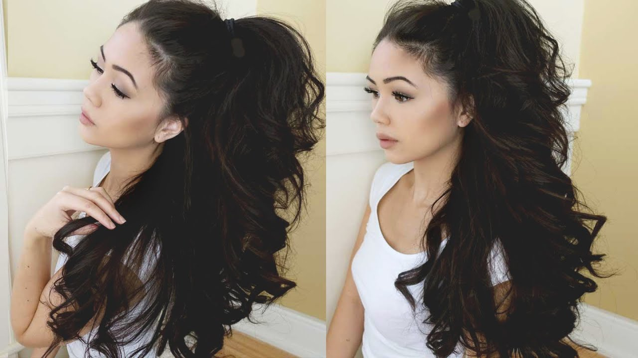 how to get big wavy curls in long hair
