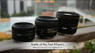 Battle of the Fast 50mm's: Nikon f1.8 vs f1.4 vs Sigma f1.4