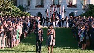 The White House Observes a Moment of Silence on the 14th Anniversary of September 11th