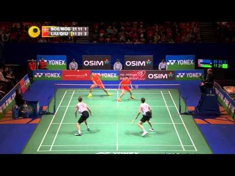 2013 All England Open - MD R16 - Liu Xiaolong / Qiu Zihan vs Mathias Boe / Carsten Mogensen