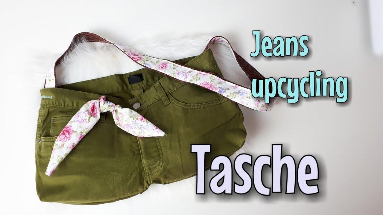 Tasche aus alter Jeans - Nähanleitung OHNE Schnittmuster - Für ...