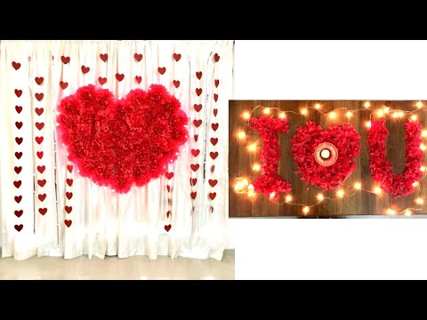 Wedding Anniversary  Decoration Ideas at home | Romantic Room Decor Ideas | Valentine Decor ideas