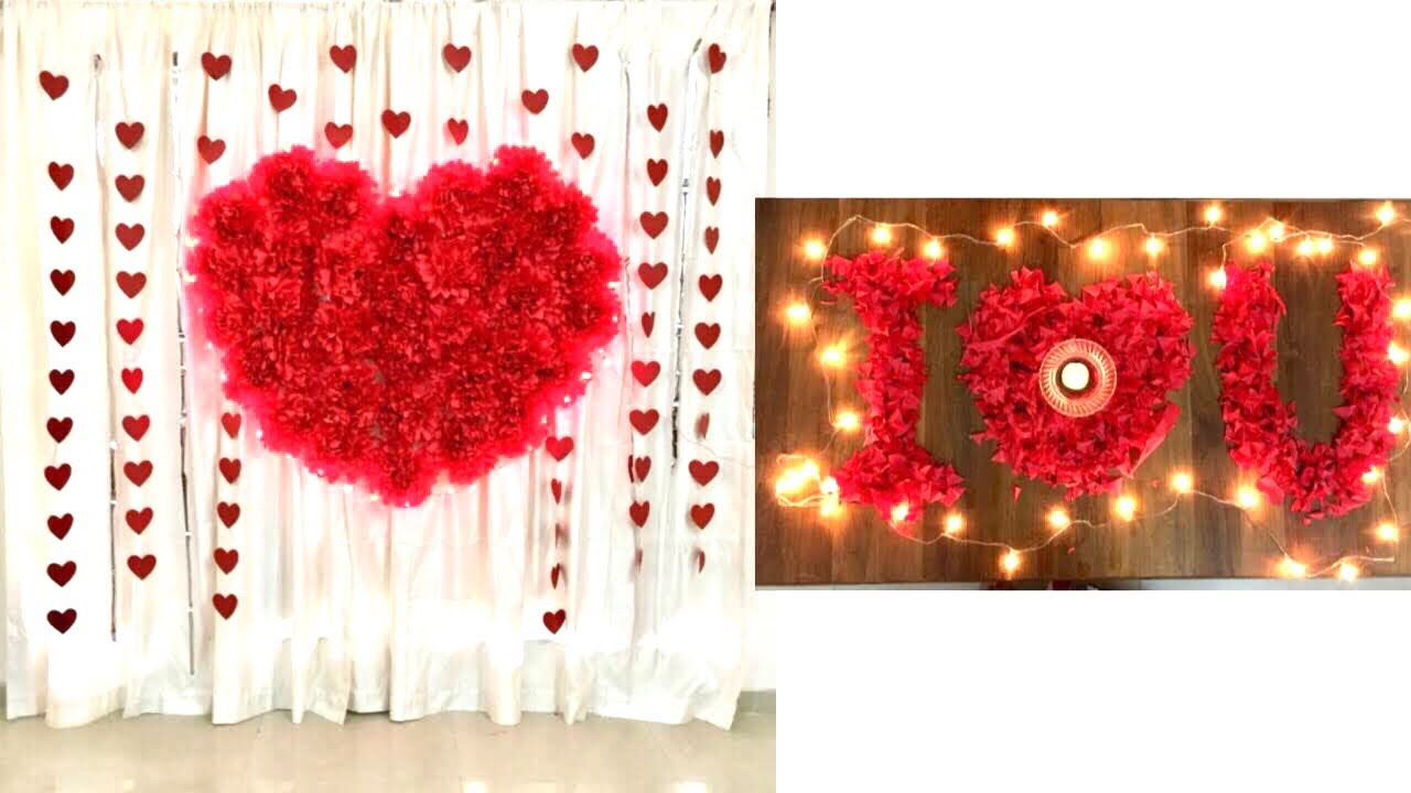Wedding Anniversary Decoration Ideas At Home Romantic Room Decor