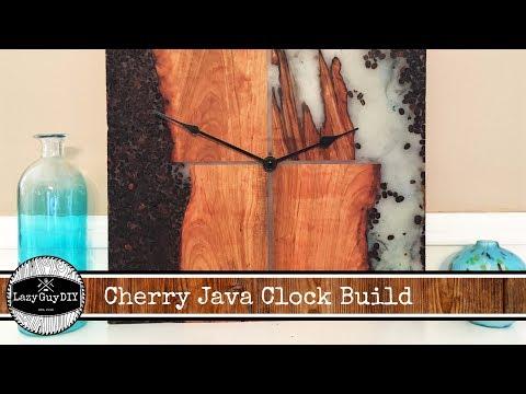 Cherry Java Clock Build Wooden Wall Art