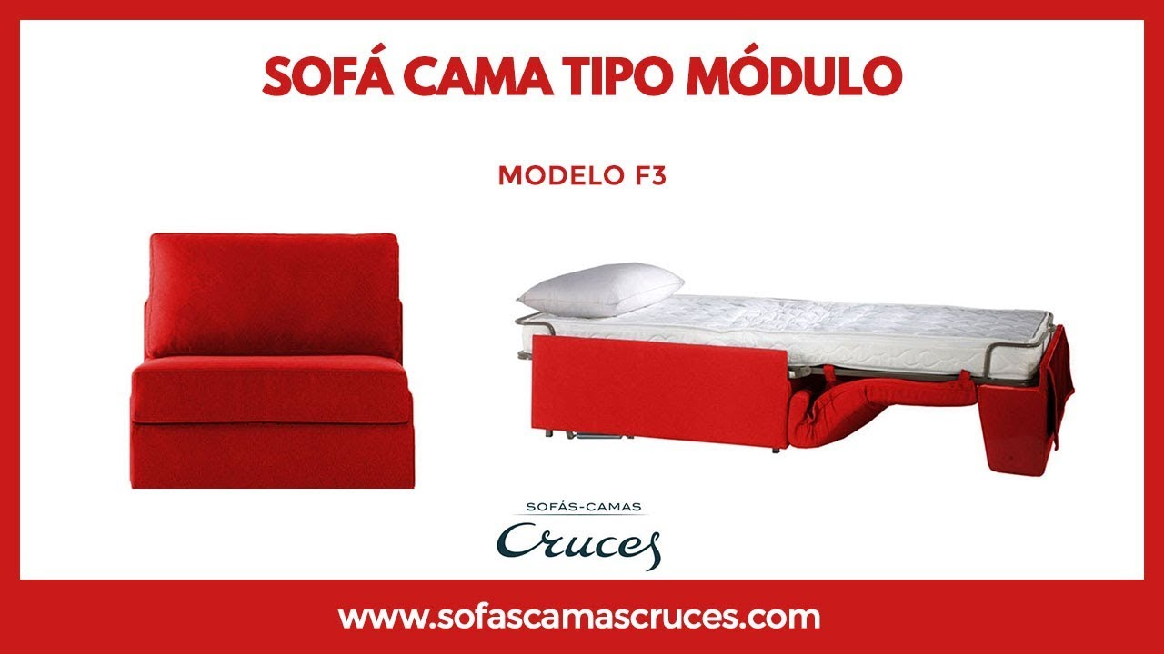 Sill n cama tipo m dulo que ocupa poco espacio youtube - Sofa cama que ocupen poco espacio ...