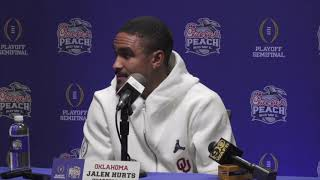 OU Football - Jalen Hurts Peach Bowl press conference