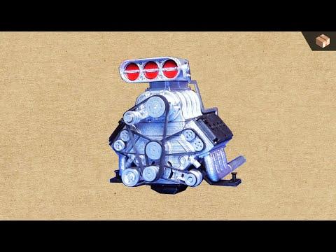 Building DKDGWi 1/8 DOHC V8 (3D Printed + Servo Motor)