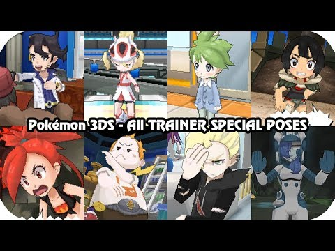 Pokémon Games - Every Overworld Special Poses Animations