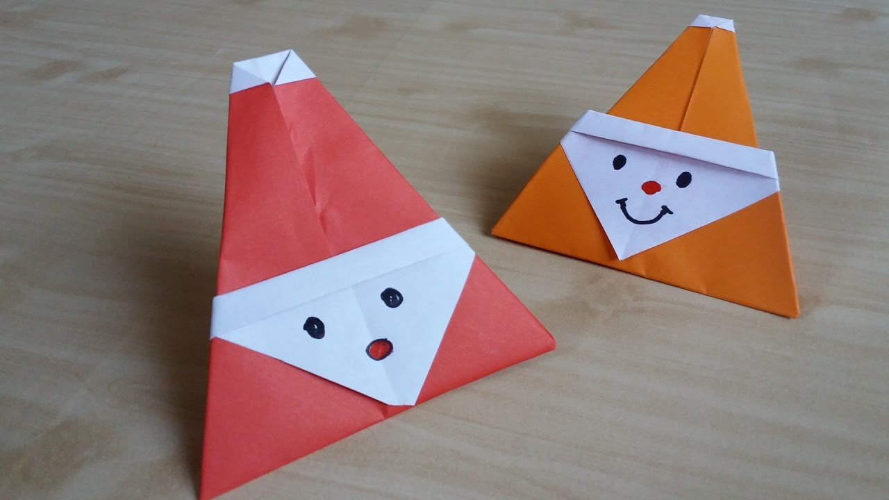 How to make Paper Santa Claus: Easy Origami Santa Claus Instructions | 720x1280