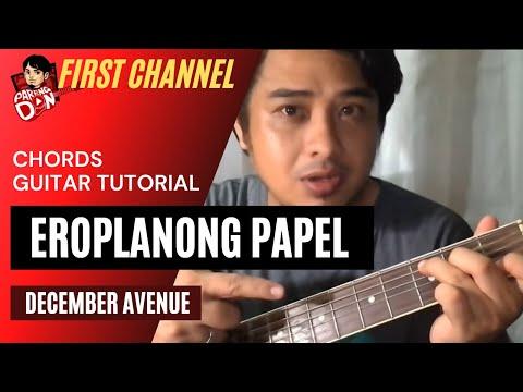 Eroplanong Papel chords (December Avenue) Easy Guitar Chords