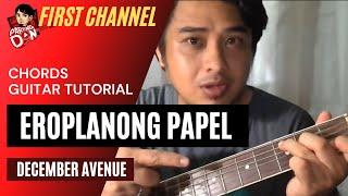 Baixar Eroplanong Papel chords (December Avenue) Easy Guitar Chords
