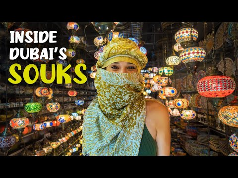 Exploring Dubai's Souks and Markets (Wearing a local Shemagh)