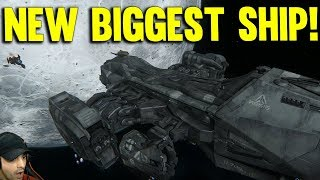NEW MASSIVE SHIP IN DOGFIGHT - STAR CITIZEN 3.1 GAMEPLAY
