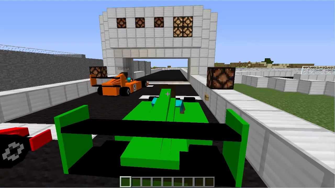 Minecraft Race Car Mod