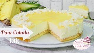 Piña Colada Torte 🥥 I lecker fruchtige Kokos-Ananas Sommertorte I Rezept von Nicoles Zuckerwerk