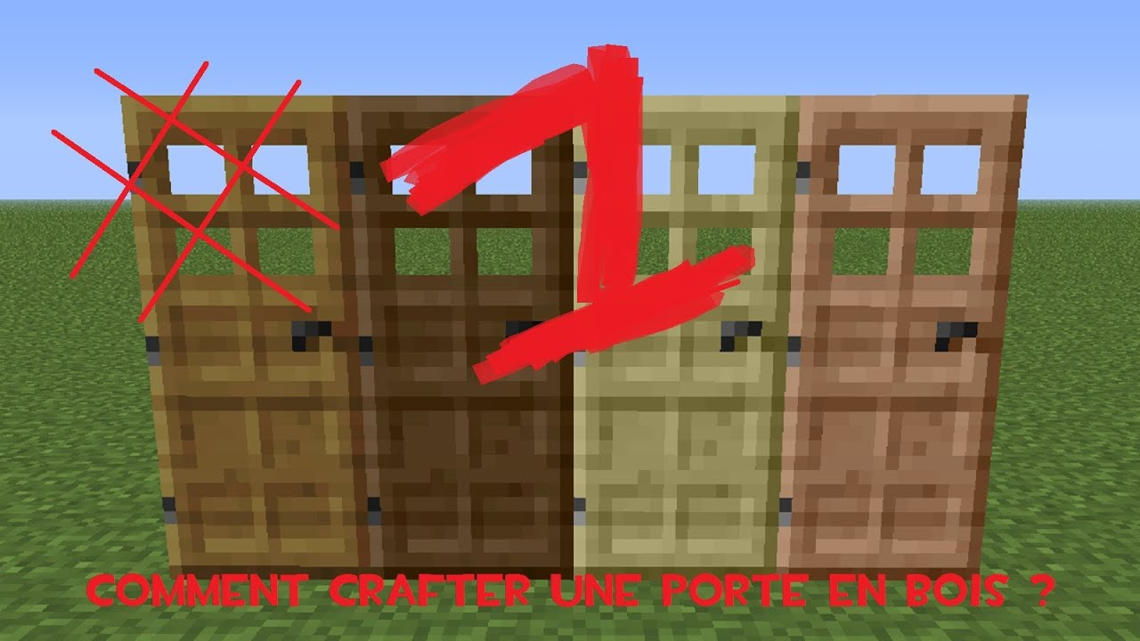 Tuto minecraft comment crafter une porte en bois youtube for Porte and minecraft