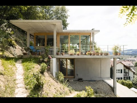 House on a slope gian salis architect youtube for Cost of building on a steep slope