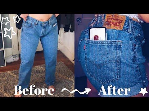 DIY: $7 Thrifted Levi Jean Shorts | Brooklyn Anne