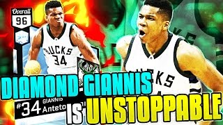 DIAMOND GIANNIS ANTETOKOUNMPO IS UNSTOPPABLE!!! 93 PTS IN 5 QUARTERS HES TOO GOOD! NBA 2K17 MYTEAM