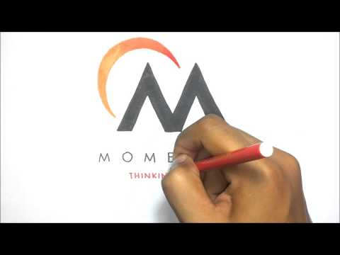Momentis Logo Drawn Out Artistic Rendition of Momentis Branding